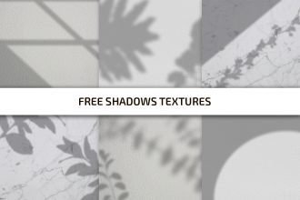 Free Shadows Texture Template in PSD + PNG, JPG