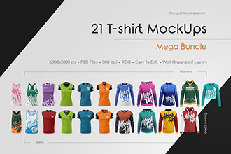 T Shirt Mockup Bundle