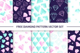 Free Diamond Pattern Set in EPS + PSD