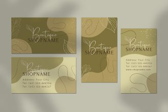 Free Boutique Business card Template in PSD