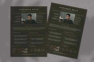 Free CV Resume Template in PSD + AI + EPS
