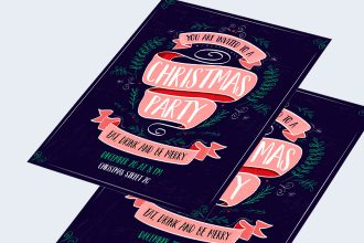 Free Christmas Invitation Template in PSD +AI, EPS