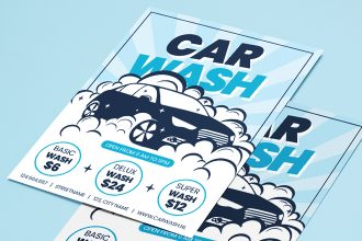 Free Car Wash Flyer Template in PSD + AI