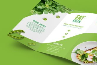 Healthy Food Tri-fold Brochure Template in PSD + EPS