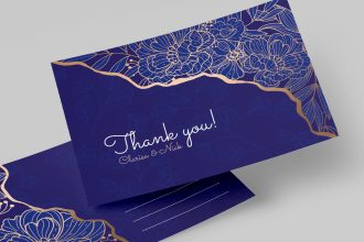 Free Floral design template for postcard ( PSD and Vector)