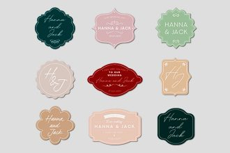 Free Wedding Labels Templates in PSD, AI, EPS
