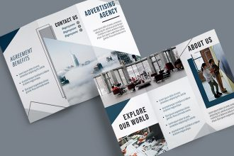 Free Advertising Agency Trifold Brochure in PSD