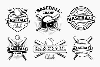 Free Baseball Logos Templates in EPS + PSD