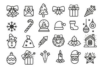 Free Christmas Icons Set in EPS + PSD