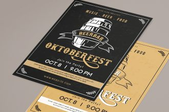 Free OktoberFest Flyer Template in PSD + AI, EPS