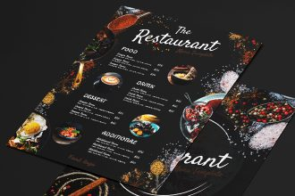 Free Restaurant Menu Templates in PSD + Vector (.ai+.eps)