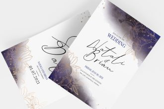 Free Wedding Invitation Templates in PSD + Vector (.ai+.eps)