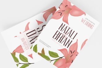 Free Wedding Invitation Templates in PSD + EPS