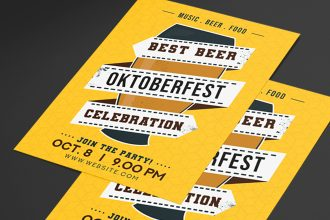 Free OktoberFest Flyer Template in PSD + Vector (.ai+.eps)