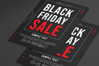 Free Black Friday Sale Flyer Template in PSD + Vector (.ai+.eps)