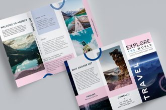 Free Travel Brochure  Template in PSD