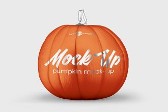 Free Pumpkin Mockup Set in PSD