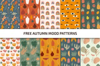 Free Autumn Mood Patterns Template IN PSD + Vector (.ai+.eps)