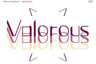 Free Valorous Font