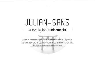 Free Julian-Sans Font