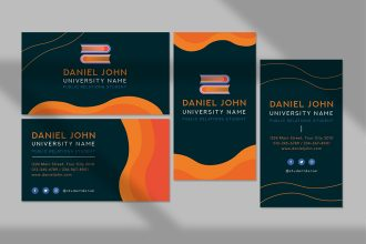 Free student business card Template in PSD + Vector (.ai, .eps)