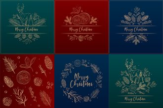 Free Christmas Background Template in PSD + Vector (.ai+.eps)