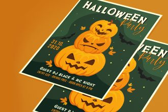 Free Halloween Flyer Template in PSD + Vector (.ai+.eps)