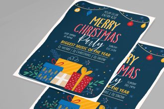 Free Christmas Flyer Template in PSD + Vector (.ai+.eps)