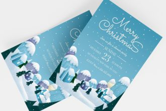 Free Christmas Invitation Templates in PSD + Vector (.ai+.eps)
