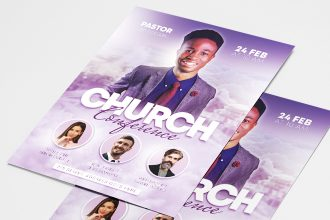 Free Church Flyer Templates in PSD + Vector (.ai+.eps)
