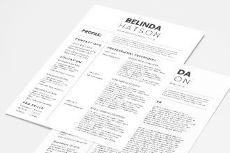 Free Simple CV and Cover Letter Templates in PSD + Vector (.ai+.eps)
