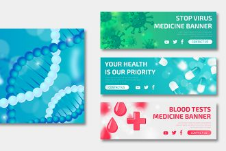 Free Health Banners Templates in PSD + Vector (.ai+.eps)