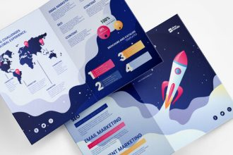 Free Marketing Bi-fold Templates in PSD + Vector (.ai+.eps)