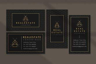 Free Real Estate Business card in PSD