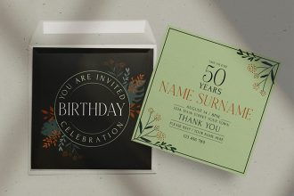 Free Birthday Invitation Template in PSD + Vector (.ai+.eps)
