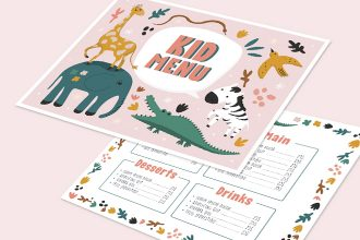 Free Kid Menu Template in PSD + Vector (.ai, .eps)