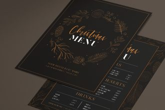 Free Christmas Menu Template in PSD + Vector (.ai+.eps)