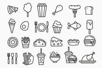 Free Food Icons Templates in EPS + PSD