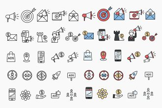 Free Marketing Icons Templates in EPS + PSD
