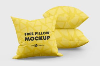 Free Pillow Mockups in PSD
