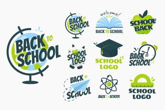 Free School Logos Templates in EPS + PSD