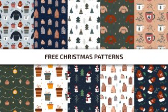 Free Christmas patterns Template in PSD + Vector (.ai+.eps)