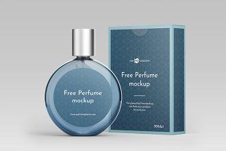 Free Perfume Mockup Template in PSD