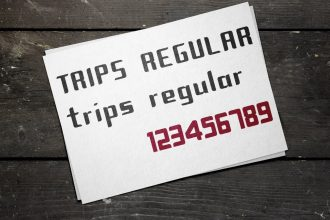 Free Trips Modular Font