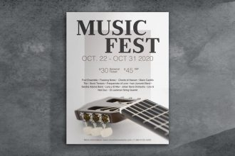 Free Music Event Poster PSD Template