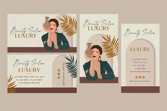 Free Beauty Salon business card Template in PSD