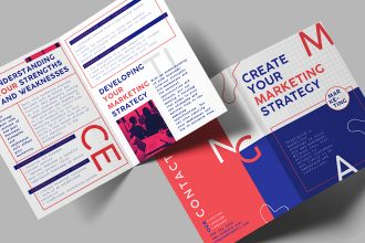 Free Marketing Brochure Template in PSD + Vector (.ai, .eps)
