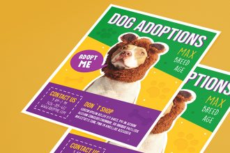 Free Dog Adoptions Flyer Template in PSD + Vector (.ai, .eps)