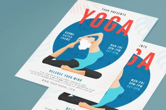 Free Yoga Flyer Template in PSD + Vector (.ai, .eps)