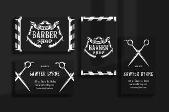 Free Barber Shop Business Card Templates in PSD + Vector (.ai+.eps)
